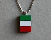 italian flag pendant