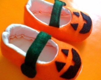Jack O' Lantern Shoes just in time for Halloween Toddler Sizes