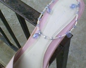 Baby Blue Anklet to Dress Up Ankles at the  Wedding, Beach,and Parties