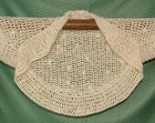 Easy Crochet Shrug Pattern instant Digital PDF download - Summer Shrug in 3 steps