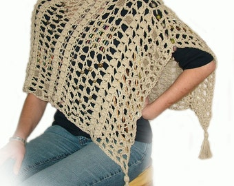 Easy Crochet Poncho Pattern Instant DIY Digital PDF download