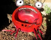 Creepy Crawly Crab Upcycled Sink Yard Art