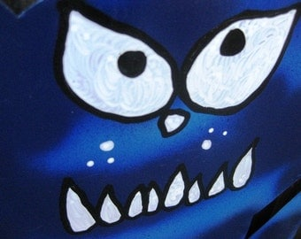 Beware of Big Blue Cat - Metal Sign
