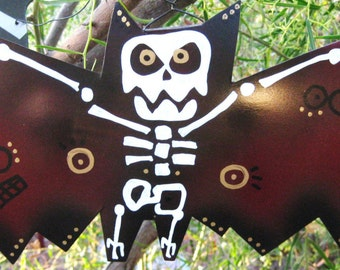 Skeleton Bat Maroon