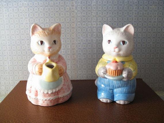 Avon Cat Cream and Sugar Set