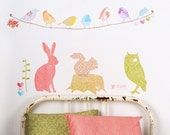 Forest Critters - Adhesive Fabric Wall Stickers \/ Decals