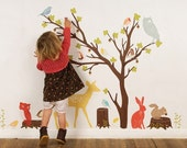 Build a Tree (dark) - Reusable Fabric Wall Decals