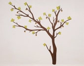 ON SALE Fabric Wall Decal - Build a Tree (dark) (reusable) No PVC