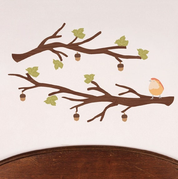 Branches (dark) - Reusable Fabric Wall Decals