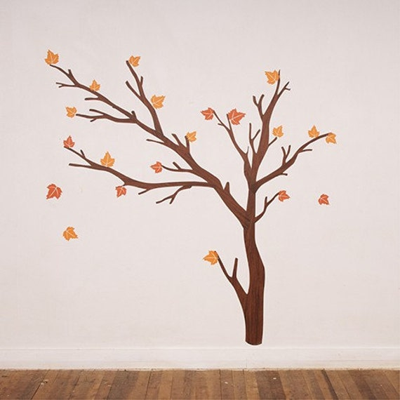 SALE - Seasons - Reusable Fabric Wall Decals (not vinyl)
