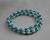 Turquoise and White Book Bracelet Bookmark- Donate to Cystic Fibrosis
