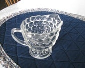 Clear Bubble Glass Anchor Hocking Creamer