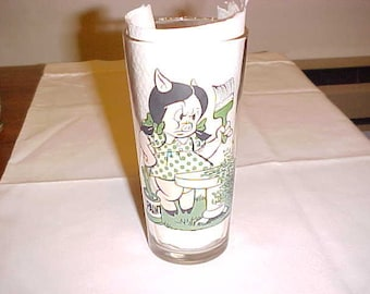 Vintage Pepsi Collector Series Glass 1976 Petunia And Porky Pig