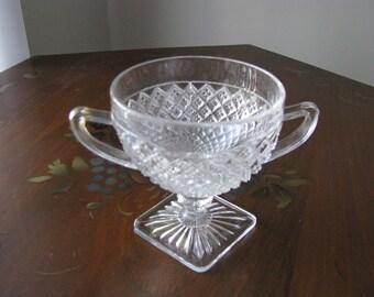 Miss America Depression Glass Footed Sugar Bowl Hocking