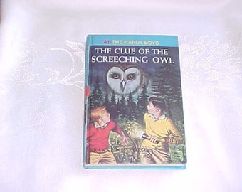 Vintage Book 1962 The Hardy Boys The Clue Of The Screeching Owl
