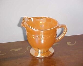Vintage Fire King Peach Lustre Laurel Pattern Creamer Treasury Item