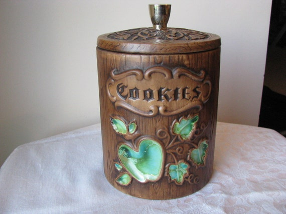 Vintage U.S.A. Treasure Craft Green Apple Cookie Jar