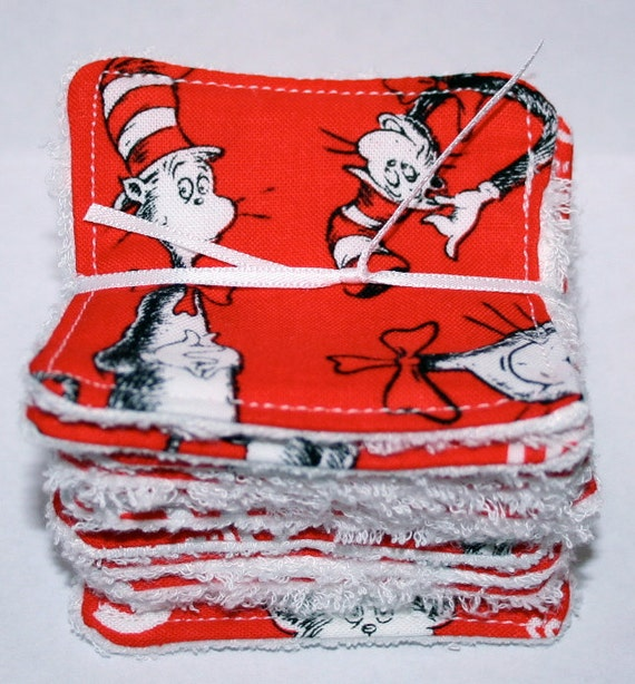 Reusable Make up cloths - Cat in the Hat