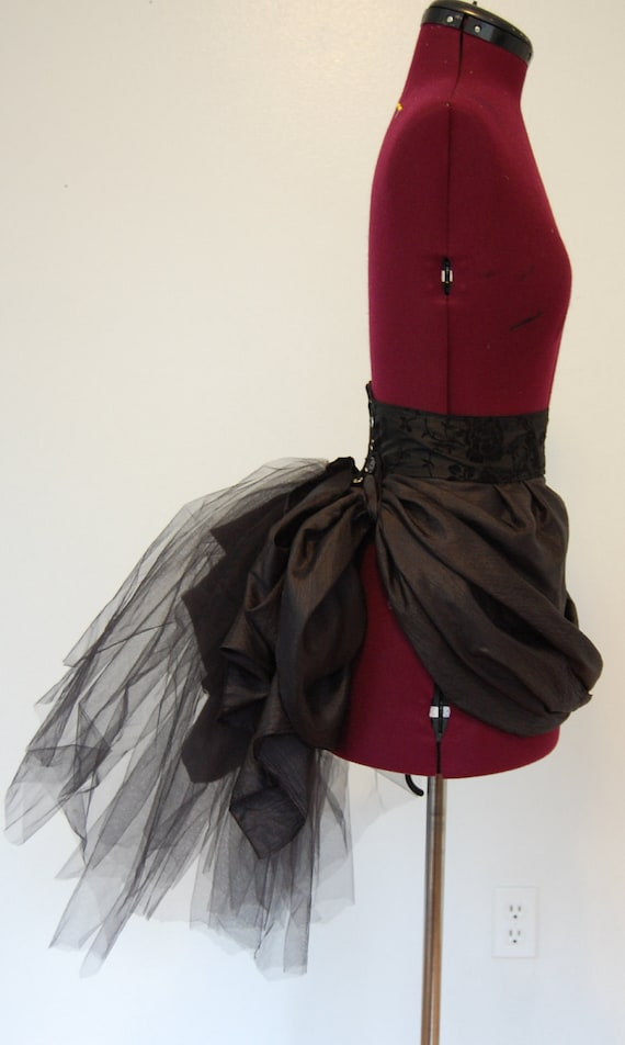 Victorian Steampunk Gothic Black Tulle Bustle By Hhfashions