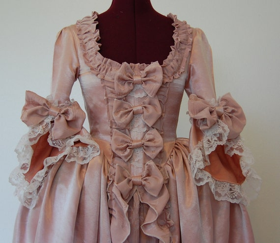 Pink Marie Antoinette rococo Victorian inspired costume dress fits waist 26 to 27 inches comes with pillow hips