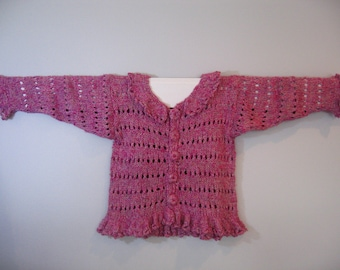 Frilly Girl Knit Cardigan Pattern for Little Girls- Adorable