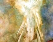 Guardian Angel Art Print, The Appearance, Angel Art by Marina Petro