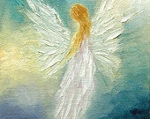 Angel Fine Art Print Spiritual Angel Art Greeting Card Signed by Marina Petro