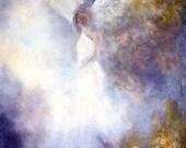"Guardian Angel ART PRINT, ""The Guardian"" Angel Art, Signed by Marina Petro"