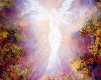 Angel Art Print, Angel Poster,  Guardian Angels, Angel Wings Decor, Home Decor, Spiritual, Angel,