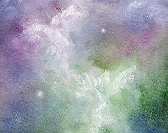 Angel Art Print, Angel Poster Print, Angel Art, Angel Wings Decor, Spiritual Art, Guardian Angels