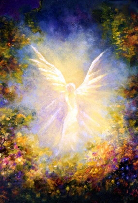 Angel Print Poster, Angels,  Guardian Angel Decor,Angel Wings Decor, Home Decor, Spiritual Gift, Angel Descending