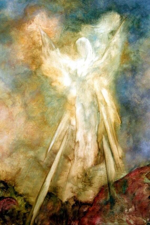 "Angel Art, Framed Print, 'The Appearance"" by Marina Petro"