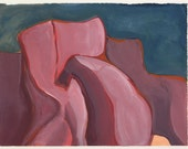 Rancho De Taos - Archival Print from Original Watercolor 7.25 x 9.75 inches with border