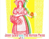 Jenny Lewis limited edition handmade screen printed gig poster