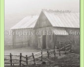 Foggy Barn - 5x7 Blank Press Printed Note Card with Free Shipping