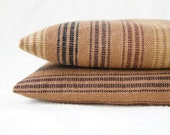 Brown Rustic Stripes Balsam Sachets Natural Aromatherapy Woodland Home Decor Set of 2