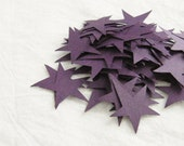 Paper Stars, Eggplant Purple, Set of 50