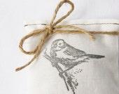 Bird on a Branch Balsam Sachet, Winter Wedding Favor, Minimalist Woodland Decor