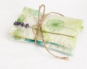Lavender Sachets, Green Dandelions, Set of 2