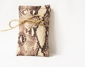 Python Snake Print Lavender Pillows, Natural Herbal Sachets for Woodland Home Decor, Gardenmis