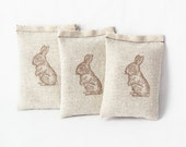 Bunny Sachets, Rabbit Babyshower Favor, Lavender Sachets, Easter Hostess Gifts