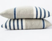Indigo Stripe Balsam Sachets - Grey and White French Country - Drawer Sachets
