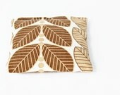Modern Leaves Balsam Sachet, Camel Brown and Cream Home Decor, Scented Sachet, Gardenmis