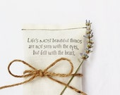 Unique Bridal Shower Favor, Love Quote Lavender Sachet, Cream Wedding Shower Favor, Bridesmaid Gift