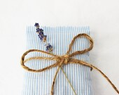 Scented Drawer Sachets, Light Blue Stripes, Nautical Home Lavender Bags