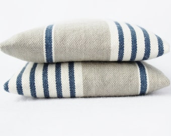 Indigo Stripe Balsam Sachets - Grey and White French Country - Drawer Sachets