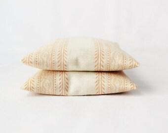 Scented Mini Pillows, Boho Peach Desert Chic, Organic Lavender Jasmine and Rose Sachets
