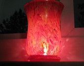 Fire and Flame Hand Painted Glassware or Candle Holder