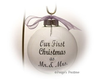 Wedding Anniversary Ornament - Christmas Ornament - Ornament - Anniversary Ornament - Wedding Ornament  - Engagement Ornament
