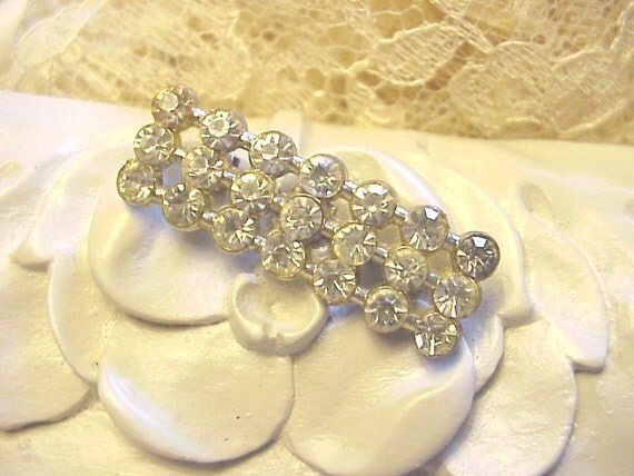 Vintage Rhinestone Bar Pin